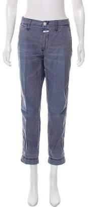 Closed Stripe Straight-Leg Pants