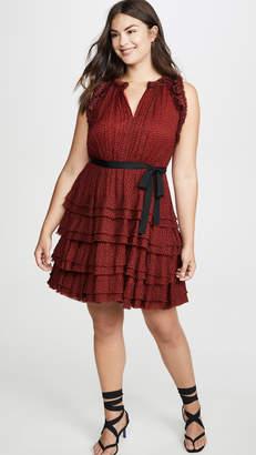 Jason Wu Sleeveless Floral Ruffle Dress