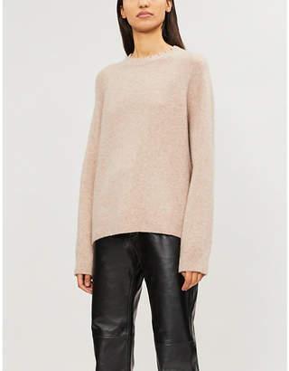 Zadig & Voltaire Crewneck distressed cashmere-blend jumper