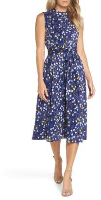 Leota Mindy Shirred Midi Dress
