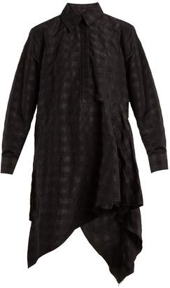 Marques Almeida MARQUES'ALMEIDA Asymmetric checked-taffeta shirtdress
