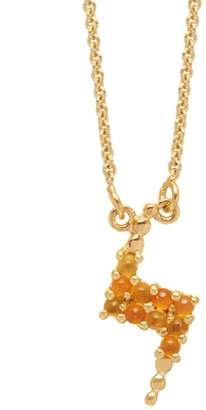 Lola Rose London - Lightning Mini Charm Necklace Carnelian & Citrine