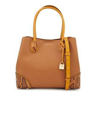 Michael Kors Mercer Gallery Leather Zip Tote Colour: ACORN, Size: One