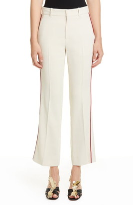Gucci Piped Stretch Cady Crop Bootcut Pants