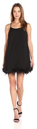 Sugar Lips Sugarlips Women's Feather Trim Dress