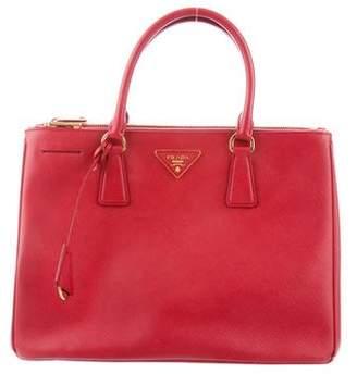 e1a6c85db158 Prada Saffiano Lux Double-zip Tote Bag - ShopStyle