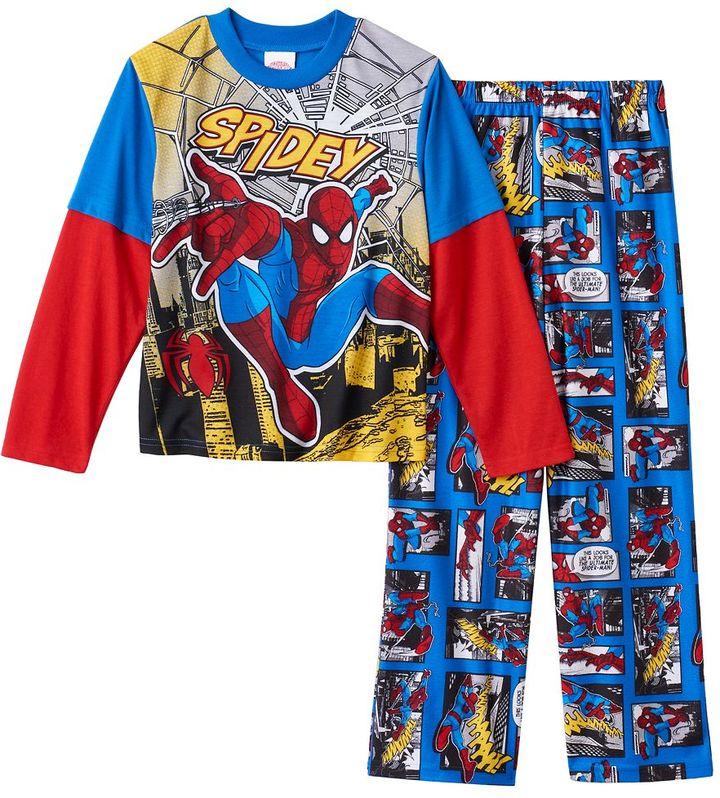 Boys Marvel Spider-Man 2-Piece Pajama Set