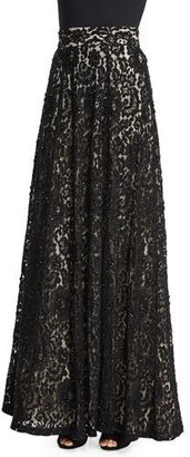 Alice + Olivia Issa Lace Ball Skirt $998 thestylecure.com
