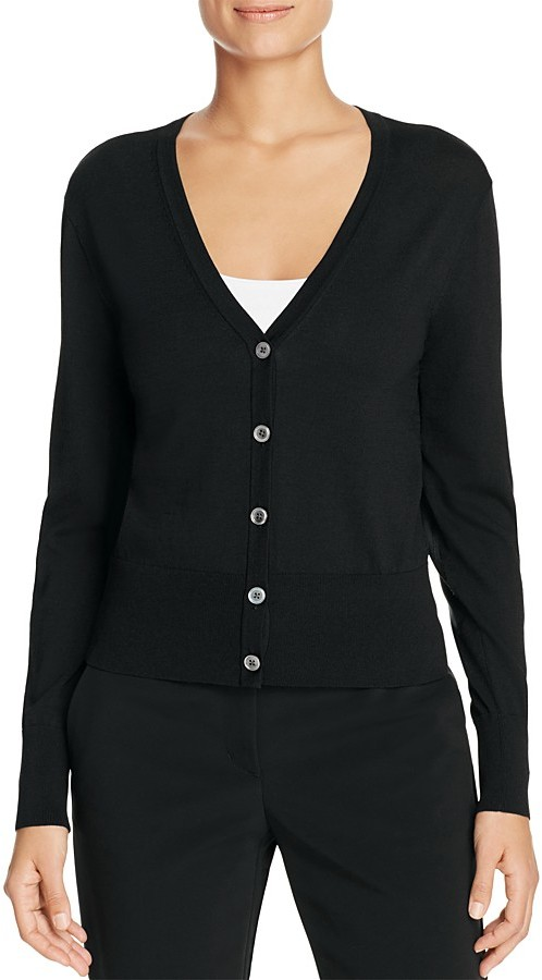 DKNY DKNY Contrast Elbow Patch Cardigan - 100% Exclusive