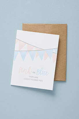 Anthropologie Pink Or Blue Baby Card