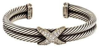 David Yurman X Double Cable Diamond Bracelet