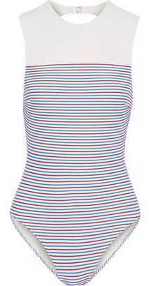 Solid & Striped The Sharon Cutout Striped Swimsuit