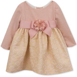 Rare Editions Glitter-Bodice Brocade Dress, Baby Girls