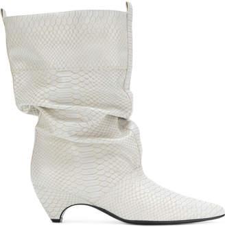 Stella McCartney faux-python slouchy boots