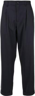 Durban D'urban elasticated waistband cropped trousers