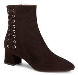 Aquatalia Polina Lace-Up Suede Booties