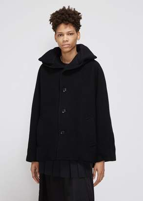 Yohji Yamamoto Y's by Knit Collar Hooded Coat