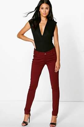 boohoo Ponte Super Skinny Stretch Trousers
