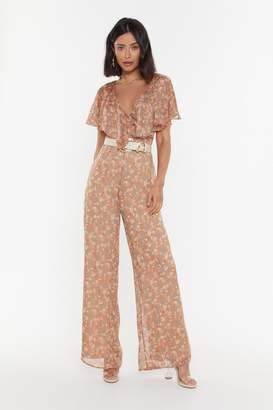 16f166b1277c Nasty Gal Petal is Not Lost Floral Ruffle Jumpsuit