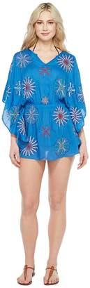 Bindya Mix Embroidery Elastic Waist Dress Cover-Up Women's Swimwear