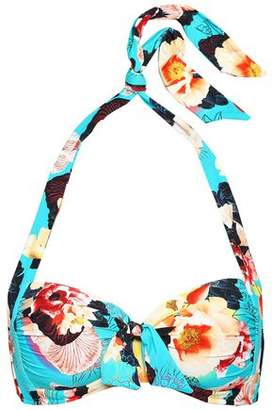 Seafolly Seychelles Ruched Printed Halterneck Bikini Top