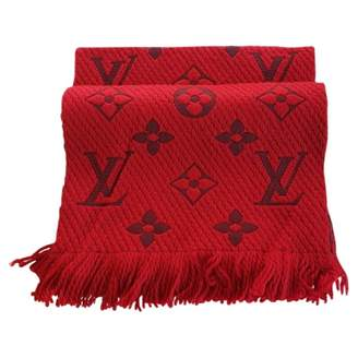 Louis Vuitton Red Wool Scarves