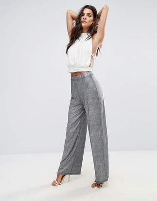 Love Metallic Wide Leg Pant