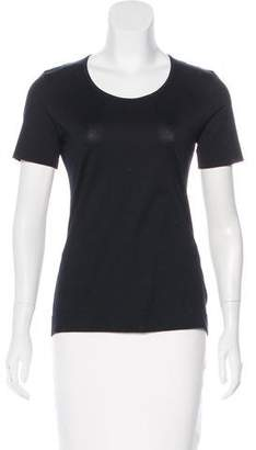 Akris Punto Cutout-Accented Short Sleeve Top