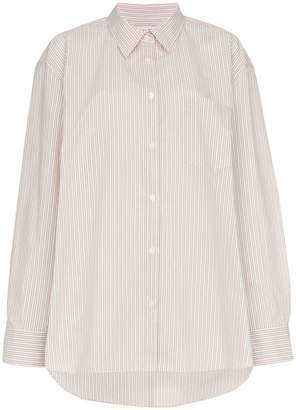 We11done stripe oversize shirt