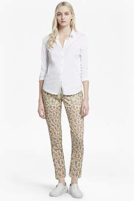 French Connection Niko Broderie Printed Cotton Trousers