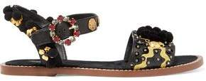 Dolce & Gabbana Embellished Leather Sandals