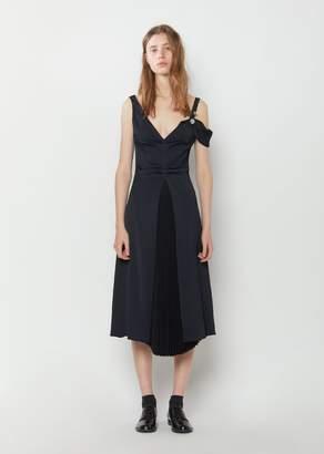 Proenza Schouler Crepe De Chine Open Shoulder Dress Black