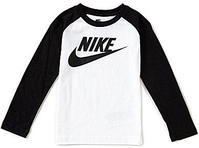 Nike Little Boys 4-7 Futura Long-Sleeve Color Blocked Tee