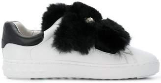 Ash fur embellished sneakers