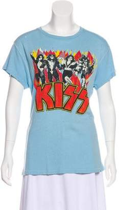 MadeWorn Distressed Kiss Graphic T-Shirt