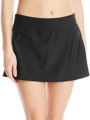 Penbrooke Women's Tummy Control Skort with Zipper Pocket Bikini Bottom