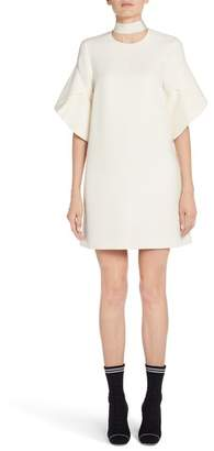 Fendi Wool & Silk Gazar Shift Dress