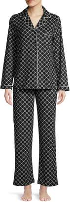 Jones New York Printed Button-Down Shirt Pants 2-Piece Pyjama Set
