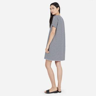 The Cotton Striped Tee Dress $38 thestylecure.com