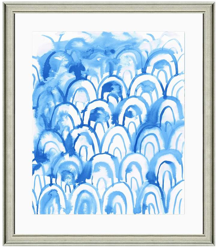 Art Source Blue Watercolor II (Framed Giclee)