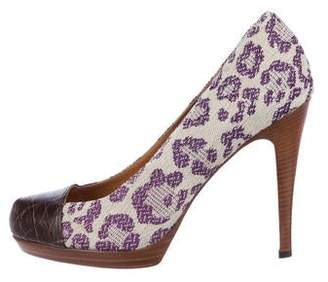 Golden Goose Embroidered Bowery Pumps