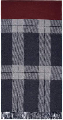 Rag & Bone Navy Check Scarf