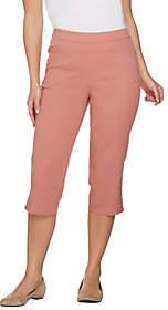 Denim & Co. Pull-on Stretch Capri Pants withCrochet Detail
