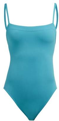 Eres Aquarelle Square Neck Swimsuit - Womens - Light Blue