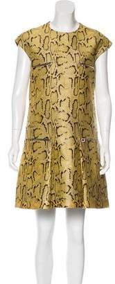 Stella McCartney Snakeskin Print Sleeveless Mini Dress