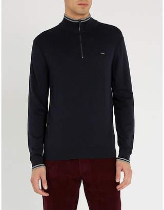 Michael Kors Funnel-neck cotton-blend knitted jumper