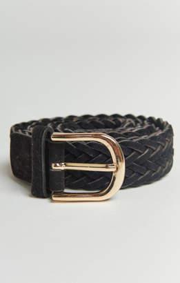 MUMU Winston Braided Belt ~ Black