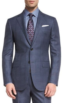 Ermenegildo Zegna Trofeo 600 Plaid Two-Piece Suit, Blue $3,395 thestylecure.com