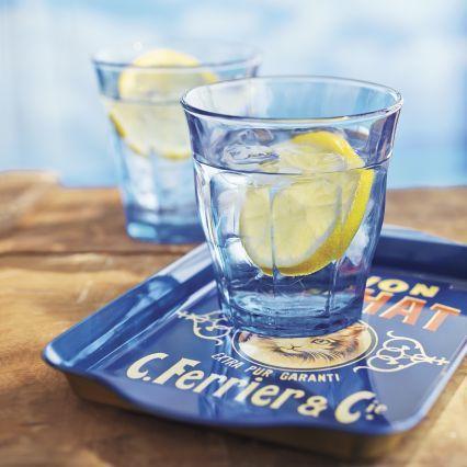 Sur La Table Duralex Blue Picardie Tumblers, Set of 6, 101⁄2 oz.