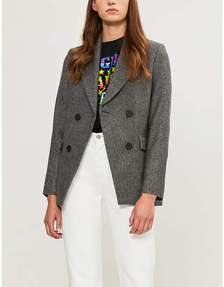 Maje Vogo double-breasted wool-blend blazer